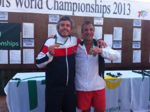 Avec son partenaire Chris Hearn (GB)