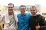 avec Stéphane De Castilla et Gwenaël Relandeau à la fin de l'entrainement